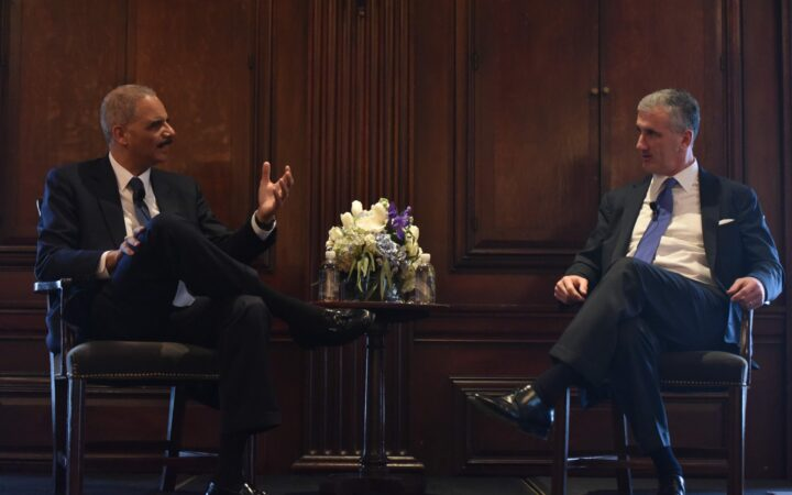 Eric Holder and Mike Holston