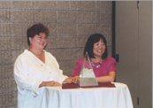 Professor Marina Angel and Diane Yu, Chair of the ABA Commission on Women in the Profession, with the Margaret Brent Women Lawyers of Achievement Award.