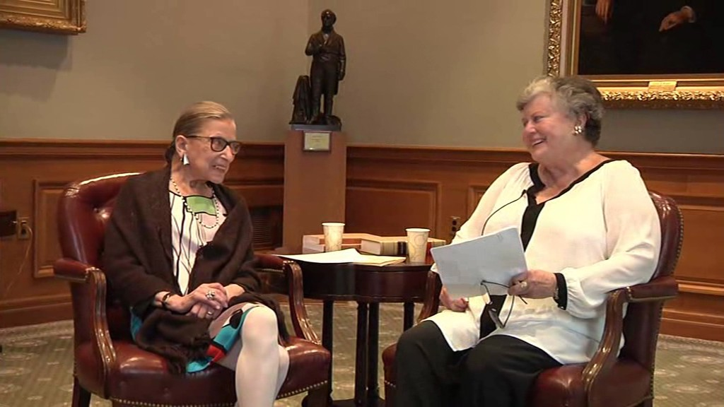 Professor Marina Angel with Justice Ruth Bader Ginsburg.
