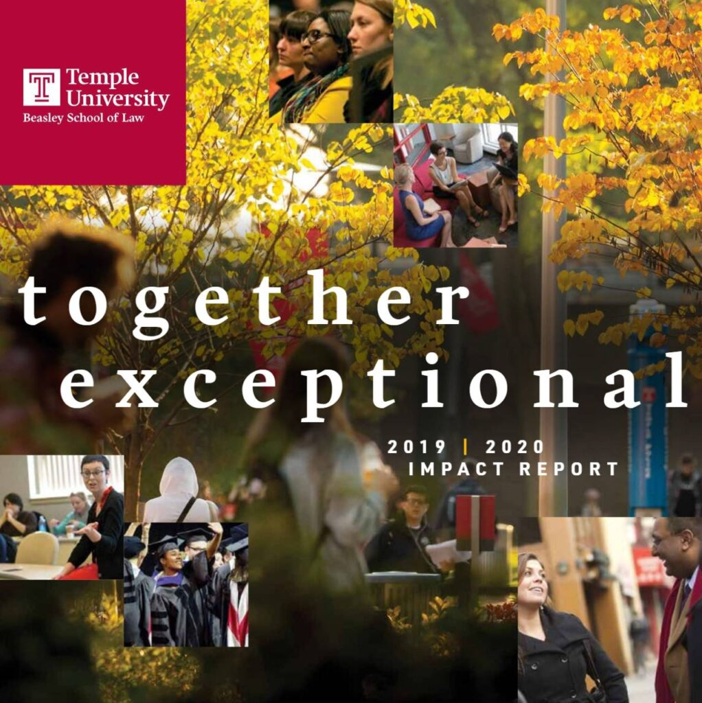 Front cover of a digital flip book that is titles 'Together Exceptional Impact Report'