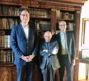 Dean Mandel, Professor Alpa, and Assistant Dean John Smagula