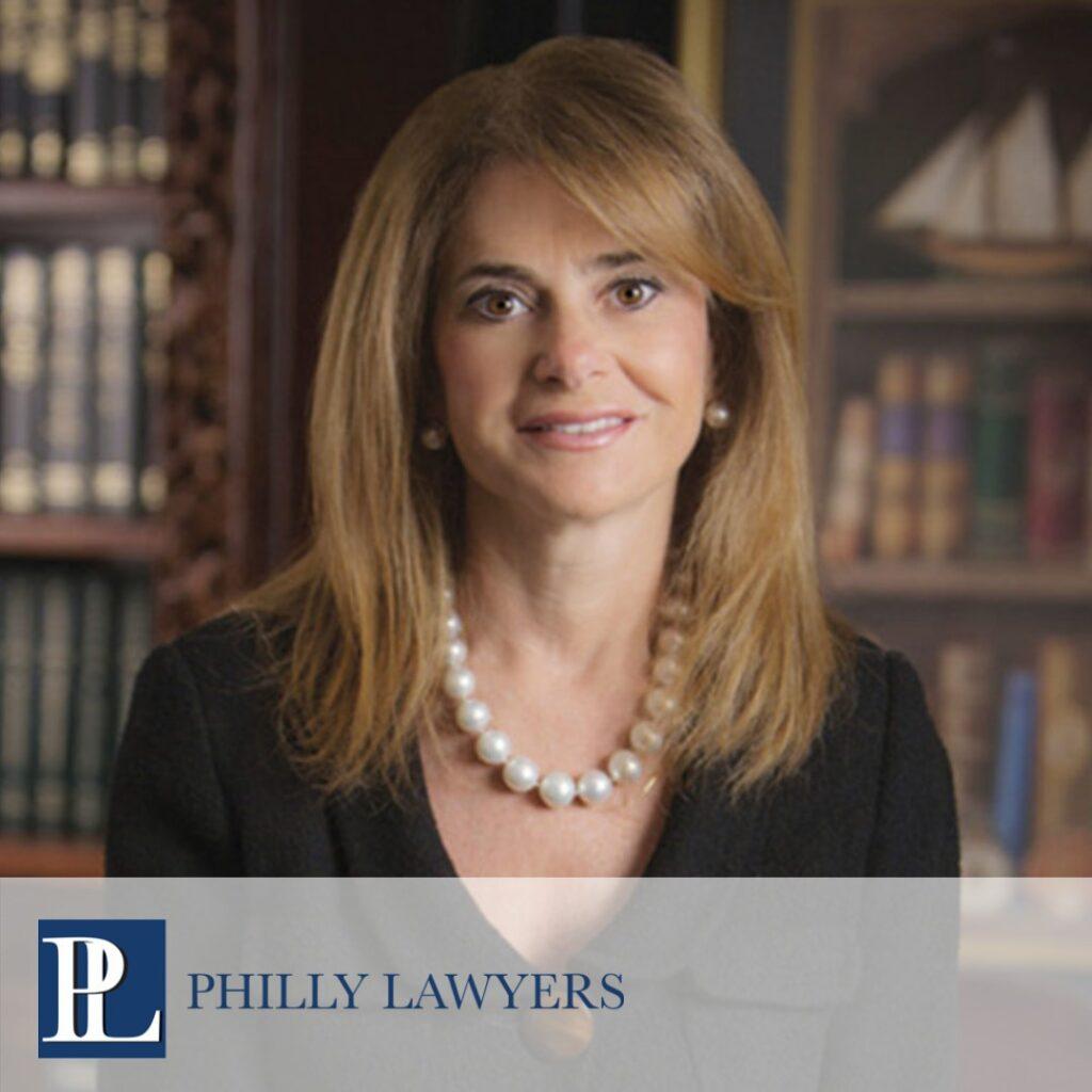 Headshot of Marina Kats with Philly Lawyers Logo